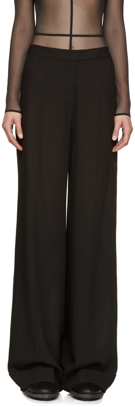 Ann Demeulemeester Black Wide-leg Trousers