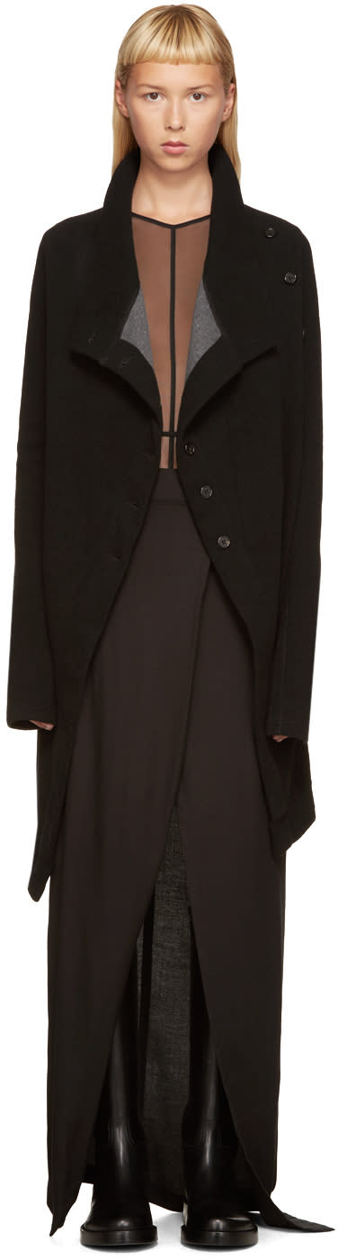 Ann Demeulemeester Black Double-face Cardigan