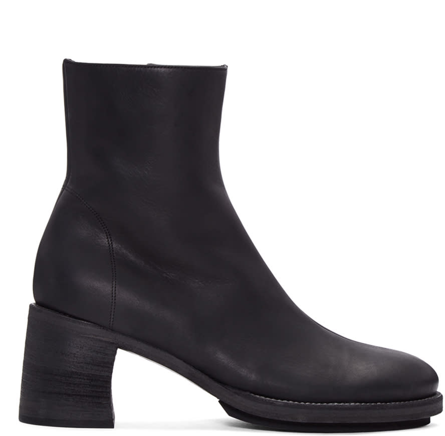 Ann Demeulemeester Black Leather Lavato Boots