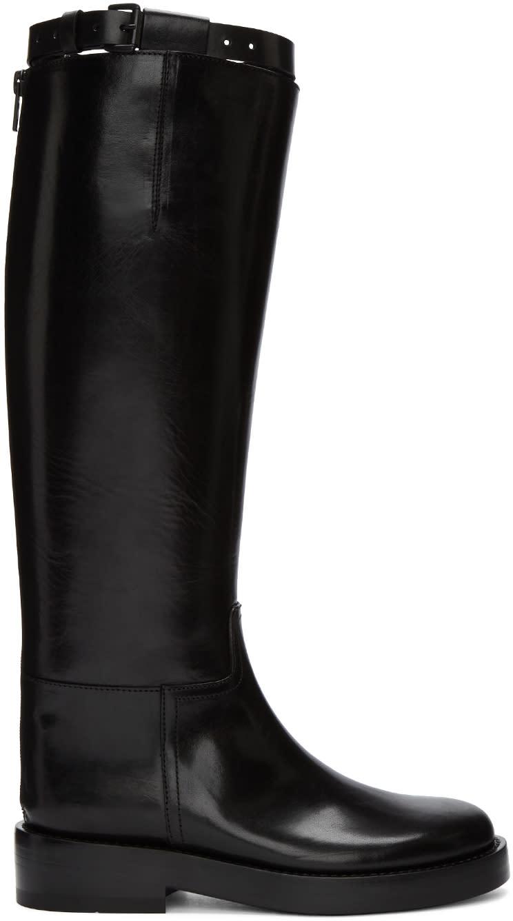 Ann Demeulemeester Black Lucido Tall Boots