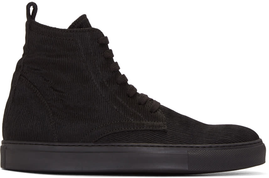 Ann Demeulemeester Black Odyssey High-top Sneakers