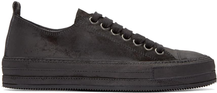 Ann Demeulemeester Black Nubuck Sneakers