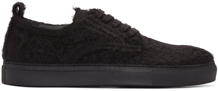 Ann Demeulemeester Black Mohair Harrison Sneakers