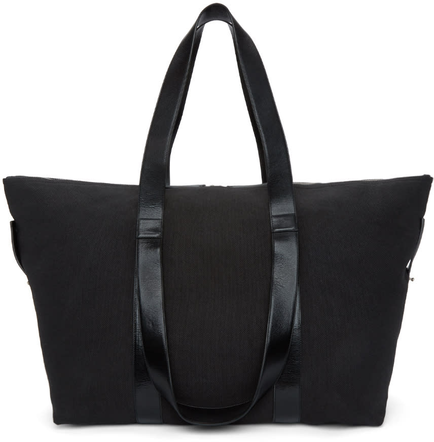Ann Demeulemeester Black Canvas Weekender Bag