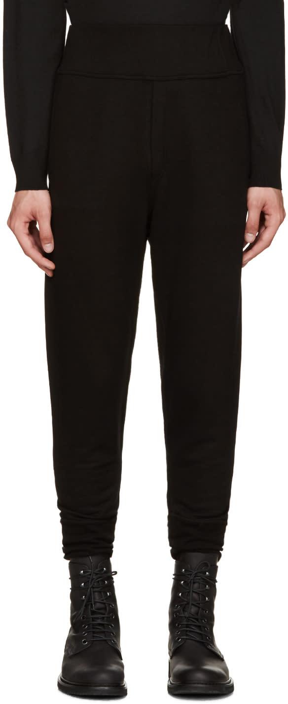 Ann Demeulemeester Black Skinny Lounge Pants