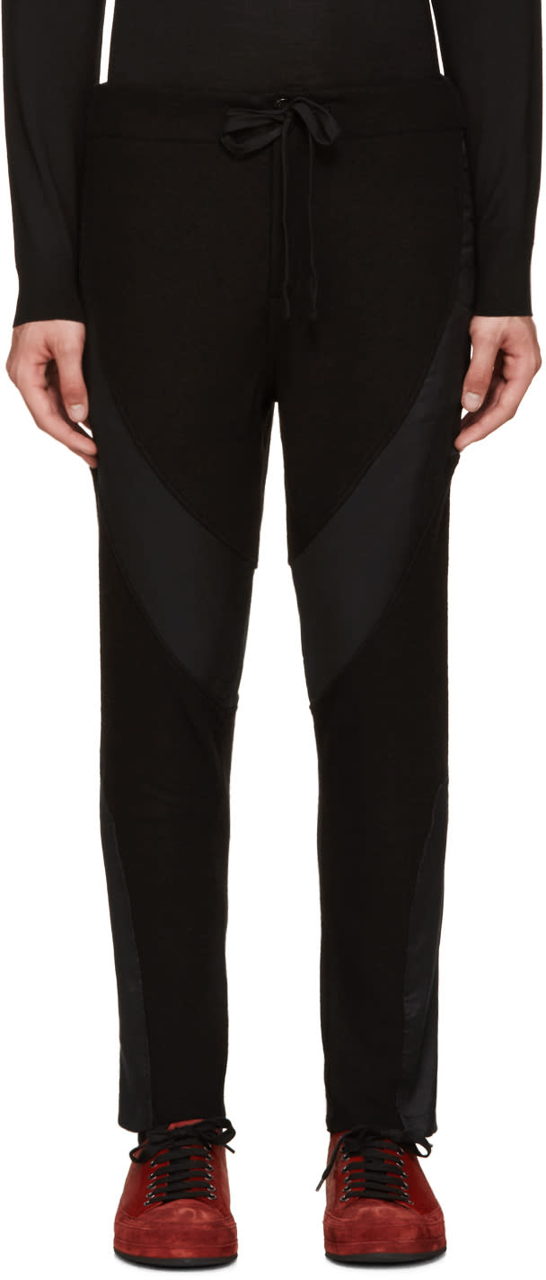 Ann Demeulemeester Black Wetsuit Lounge Pants