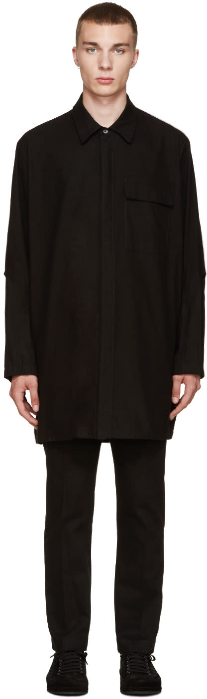 Ann Demeulemeester Black Flannel Oversized Shirt