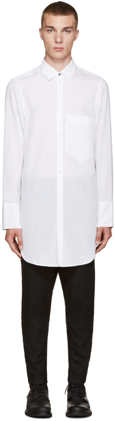 Ann Demeulemeester White Striped Shirt