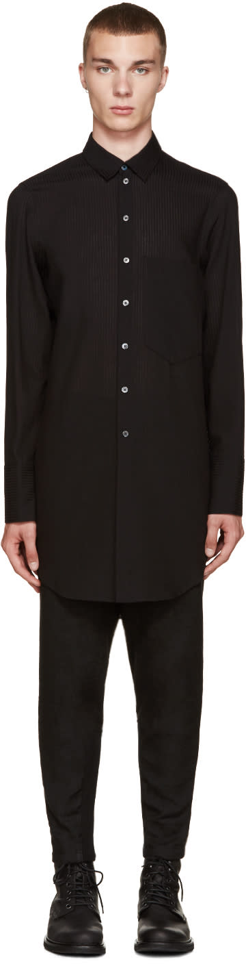 Ann Demeulemeester Black Long Shirt