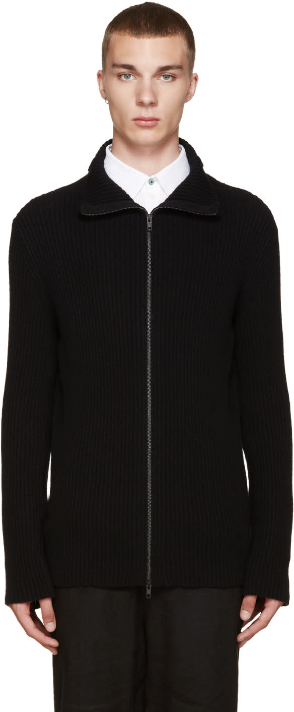 Ann Demeulemeester Black Zip-up Sweater