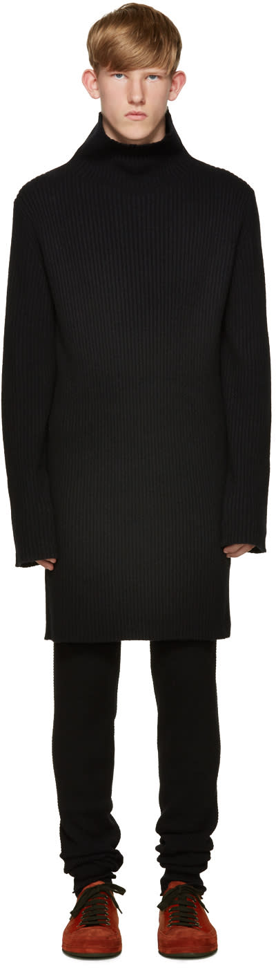 Ann Demeulemeester Black Knit Turtleneck