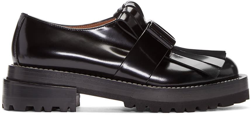 Marni Black Fringed Loafers