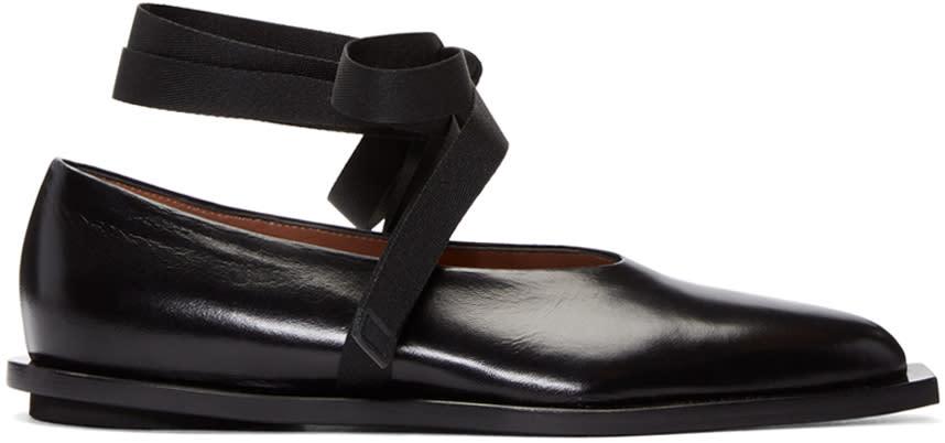 Marni Black Ankle Tie Flats