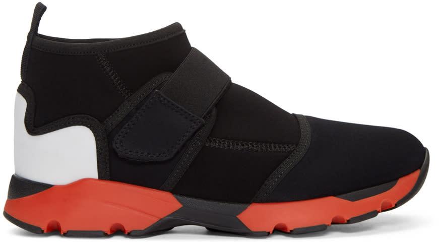 Marni Black Velcro High-top Sneakers