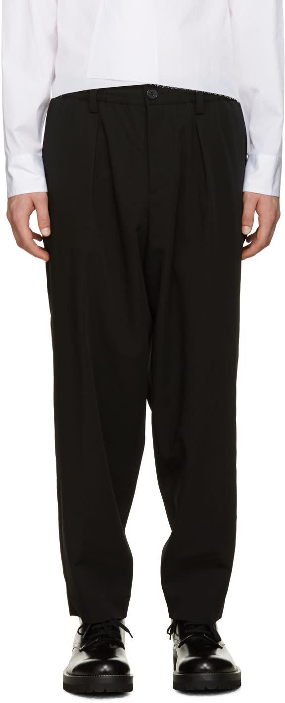 Marni Black Wool Drawstring Trousers