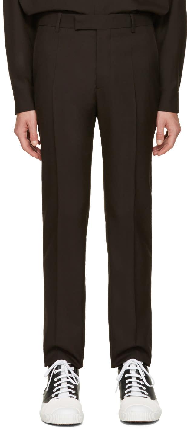 Marni Brown Wool Trousers