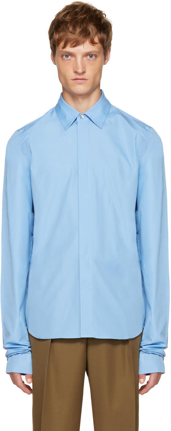 Marni Blue Overlong Sleeve Shirt