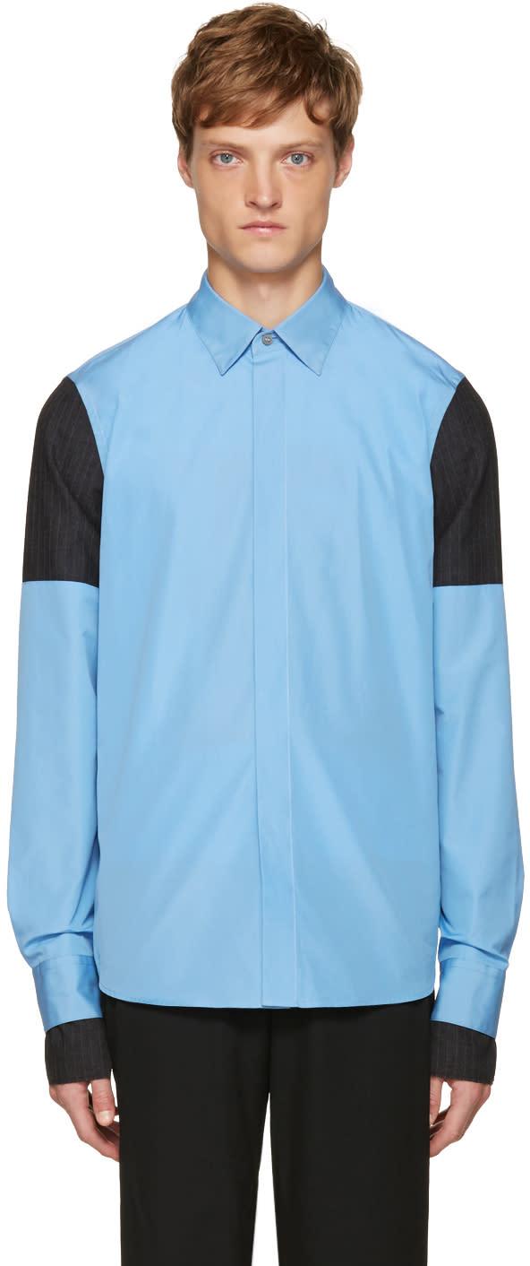 Marni Blue Layered Sleeve Shirt