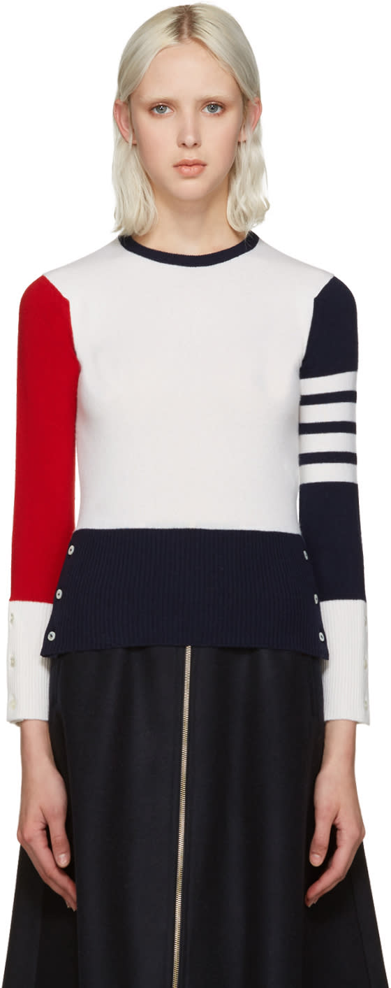 Thom Browne Tricolor Cashmere Sweater