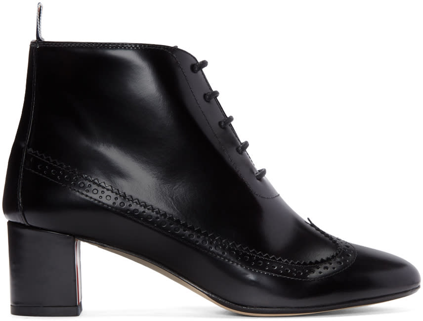 Thom Browne Black Longwing Boots