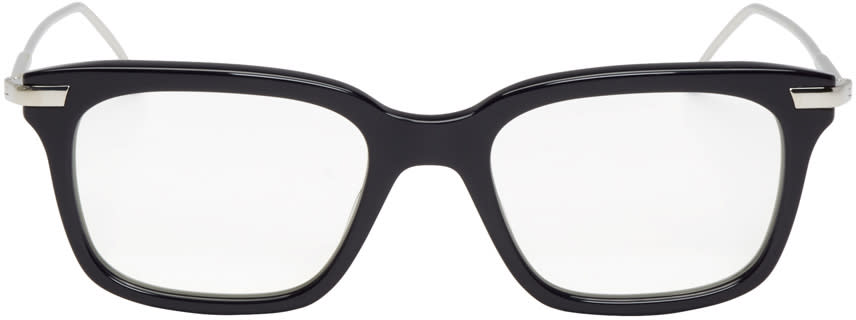 Thom Browne Navy and Silver Tb-701 Glasses
