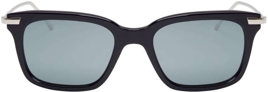 Thom Browne Navy and Silver Tb-701 Sunglasses