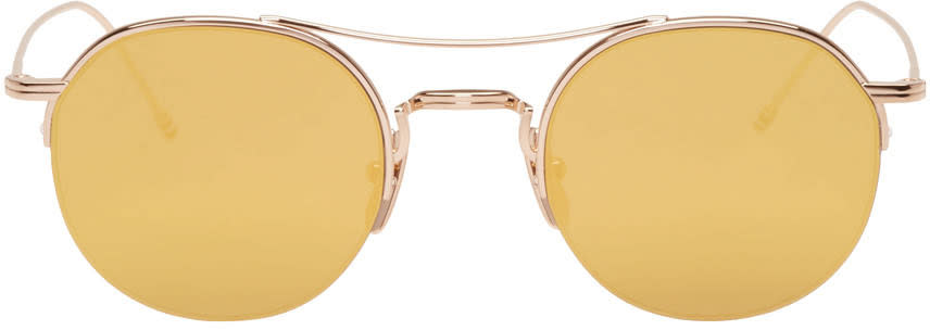 Thom Browne Gold Tb 903 Sunglasses