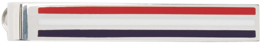 Thom Browne Tricolor Striped Tie Bar