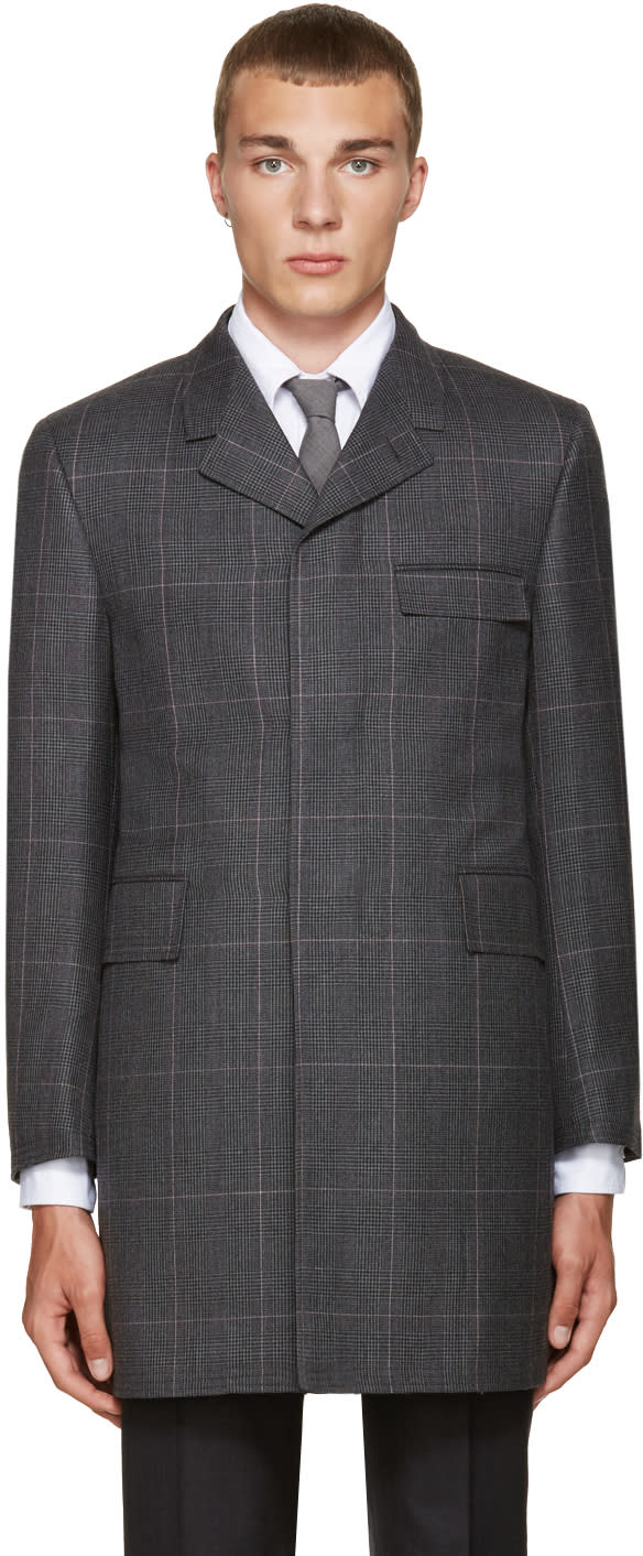 Thom Browne Grey Classic Chesterfield Coat