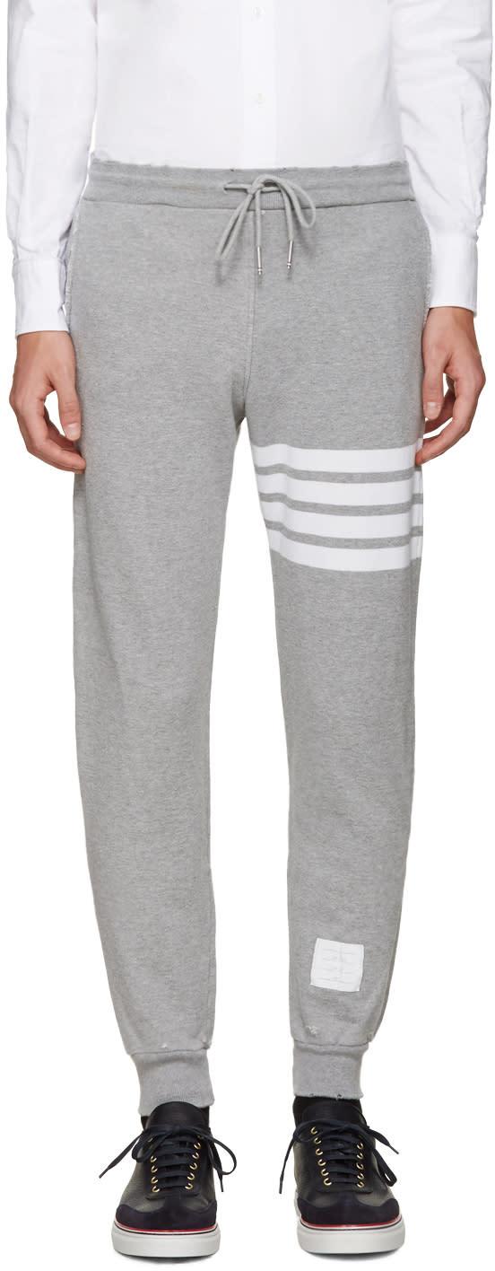 Thom Browne Grey Cropped Lounge Pants