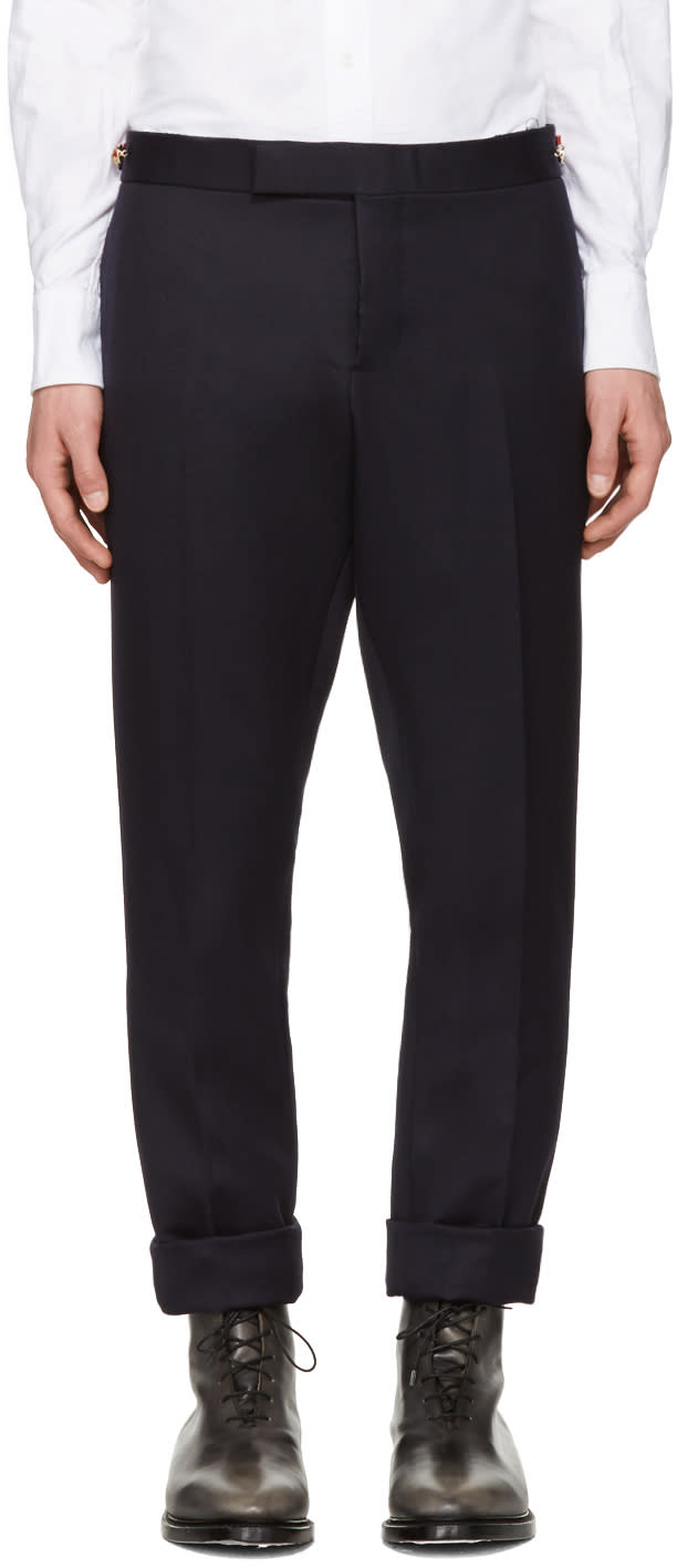 Thom Browne Navy Twill Trousers