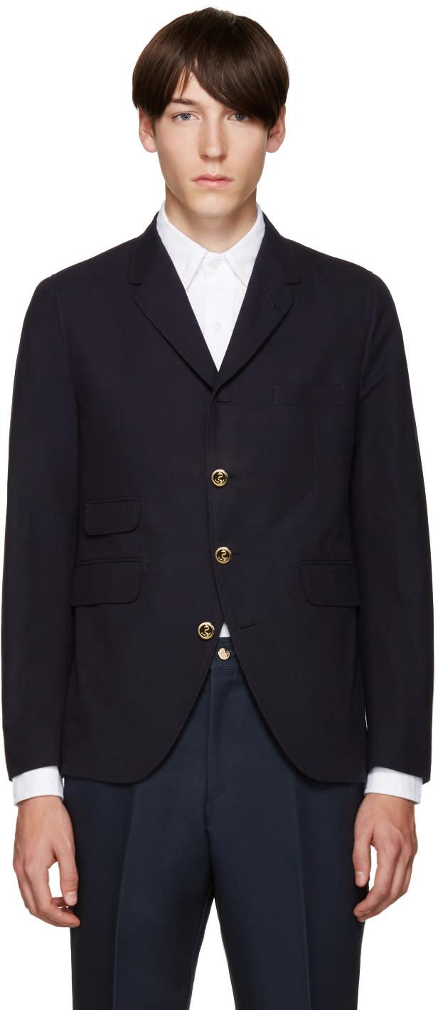 Thom Browne Navy Cotton 5-button Blazer
