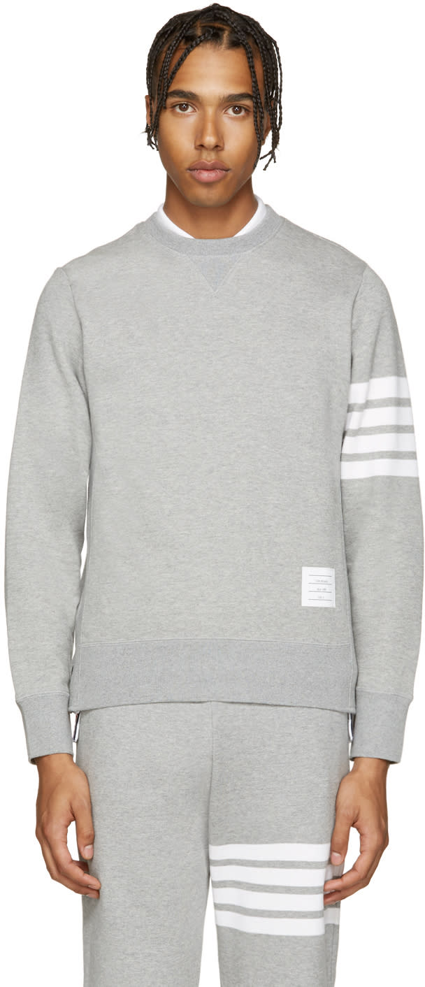 Thom Browne Grey Classic Pullover