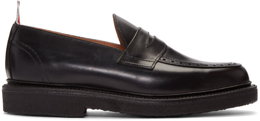 Thom Browne Black Penny Loafers