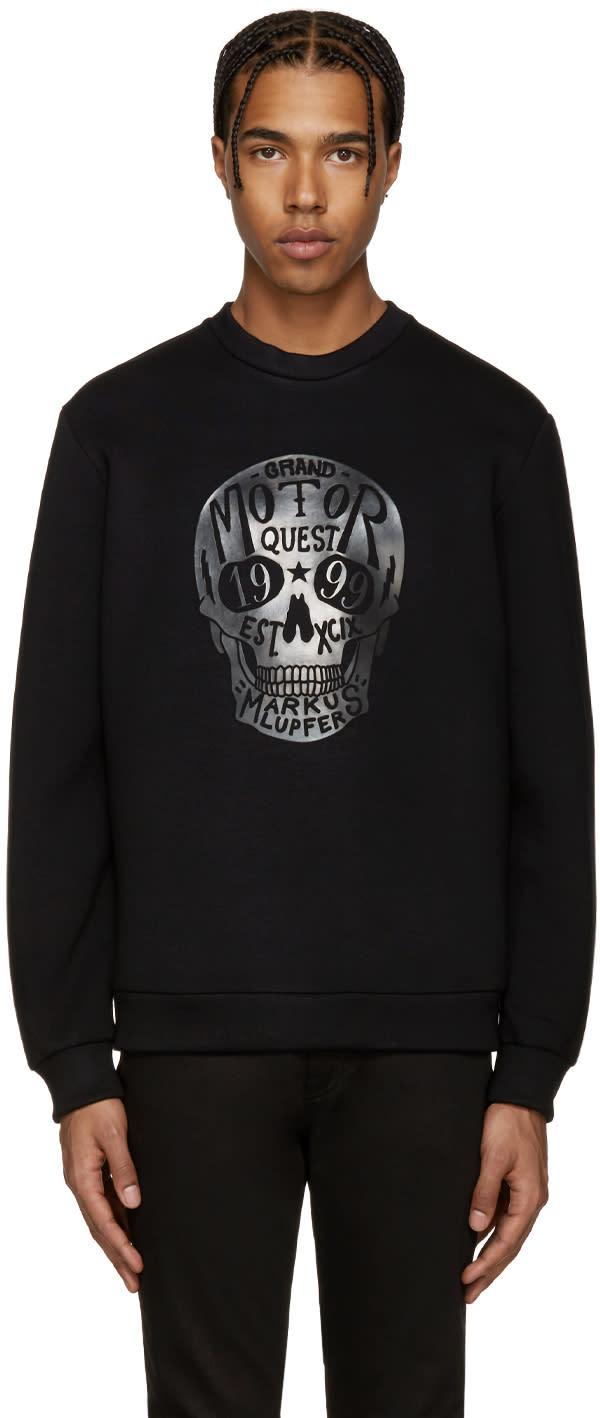 Markus Lupfer Black Skull Logo Pullover