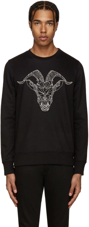 Markus Lupfer Black Embroidered Ram Sweatshirt