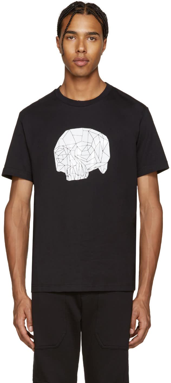 Markus Lupfer Black Geometric Skull Print T-shirt