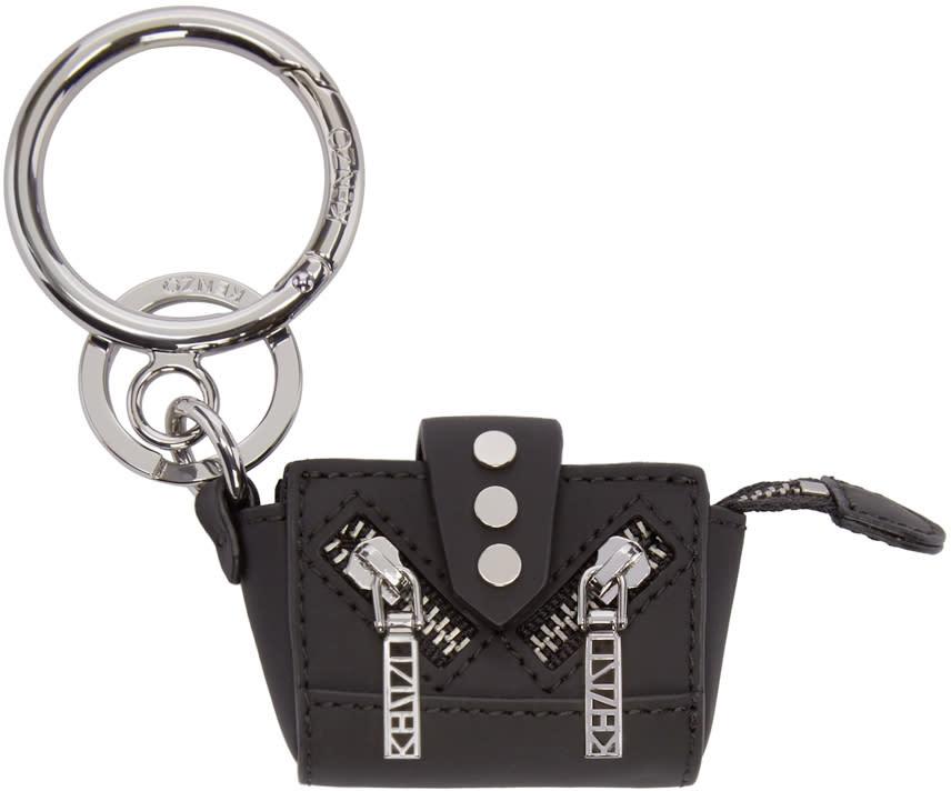 Kenzo Black Kalifornia Tote Keychain