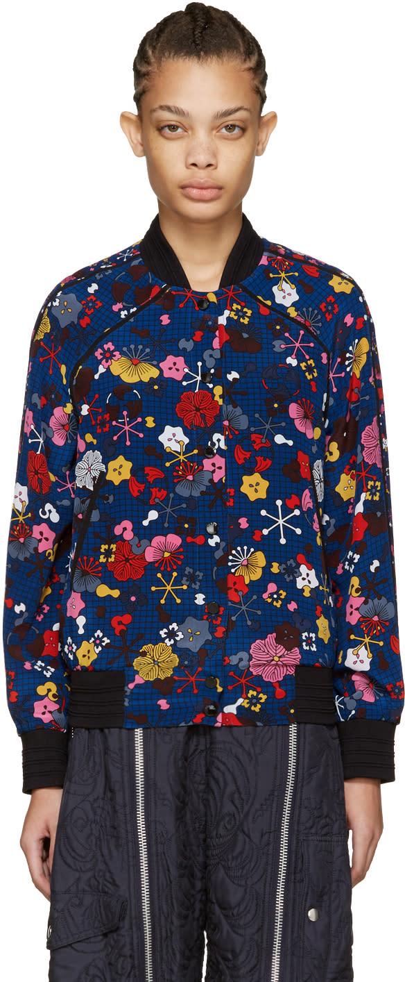 Kenzo Multicolor Silk Bomber Jacket