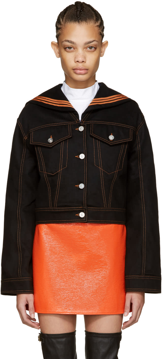 Kenzo Black Denim Sailor Jacket