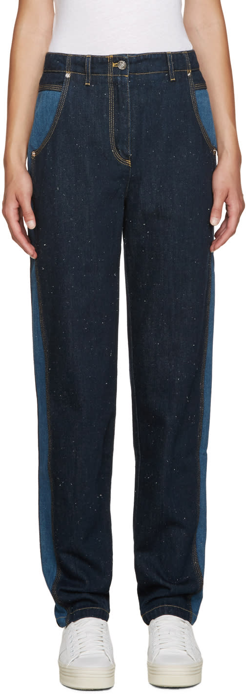 Kenzo Blue Two-tone Jeans