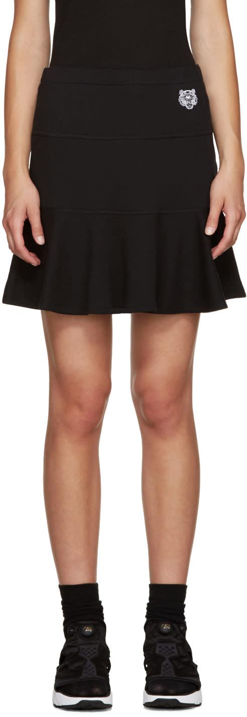 Kenzo Black Flared Skirt