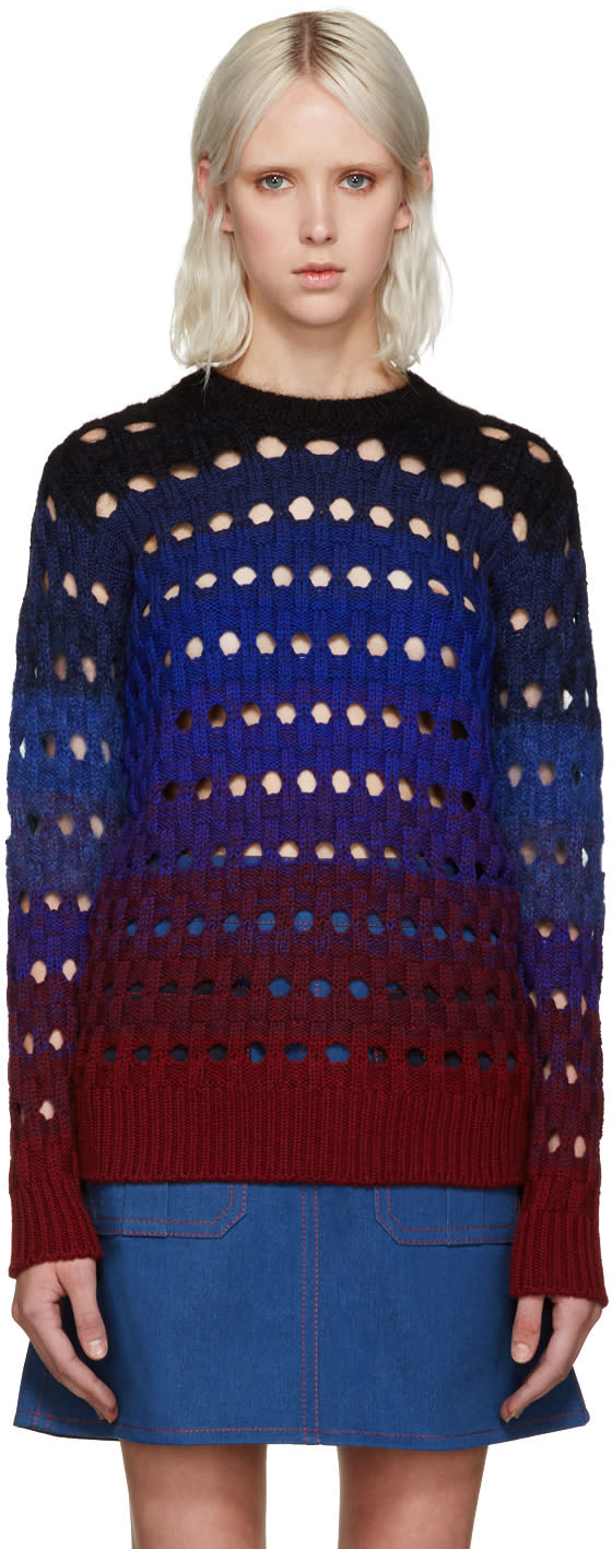 Kenzo Blue Basketweave Sweater