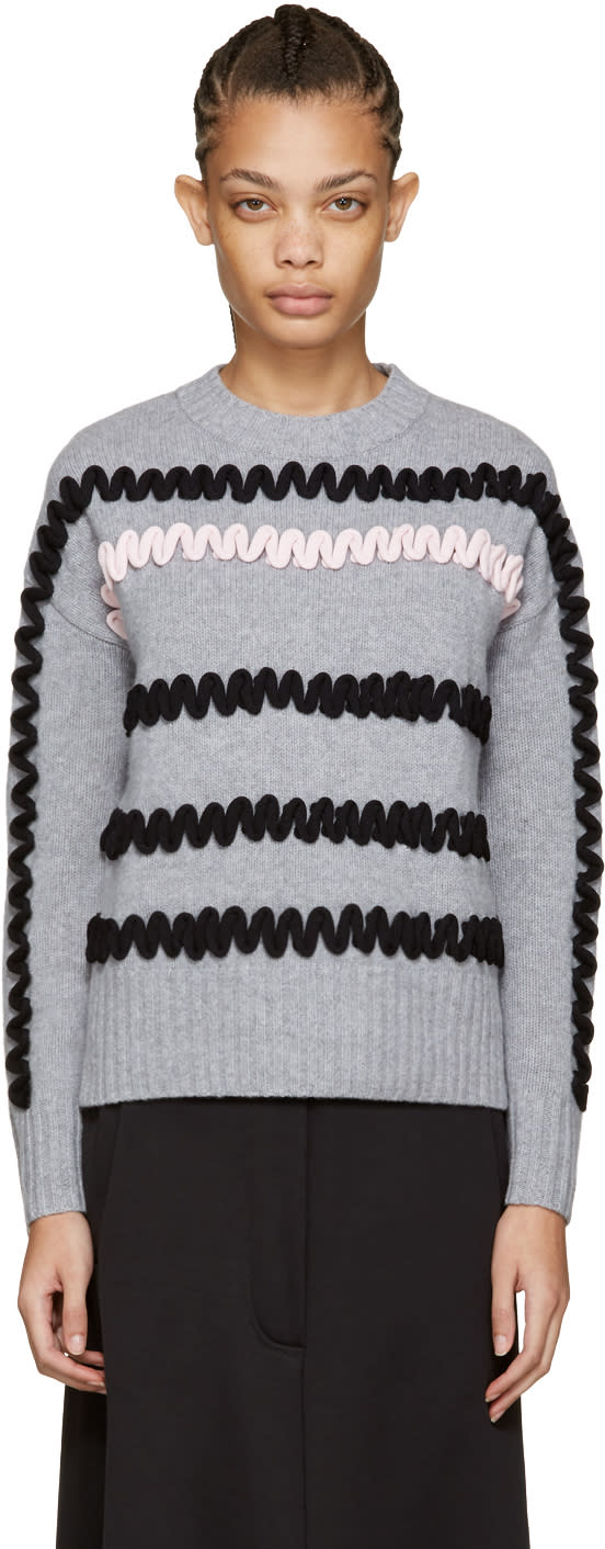 Kenzo Grey Embroidered Sweater