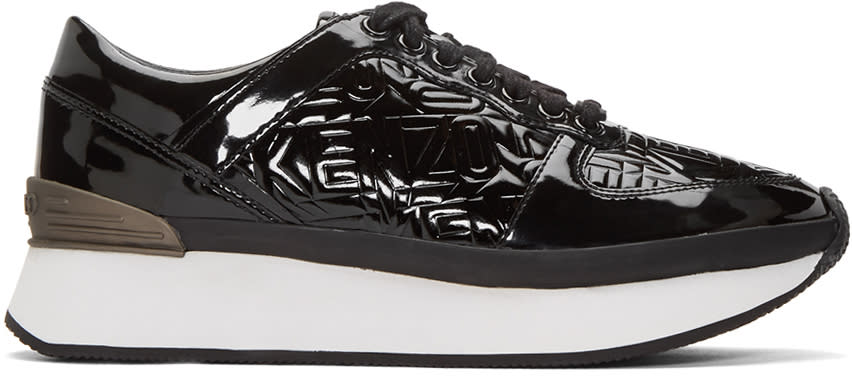 Kenzo Black Flying Logo Sneakers
