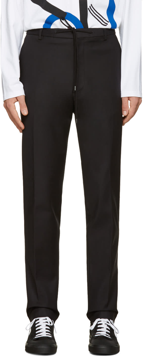 Kenzo Black Slim Drawstring Trousers