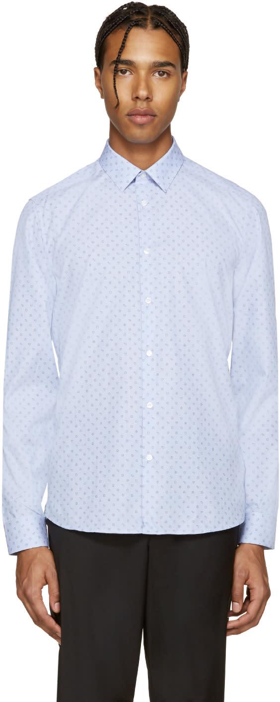 Kenzo Blue Tanami Print Shirt