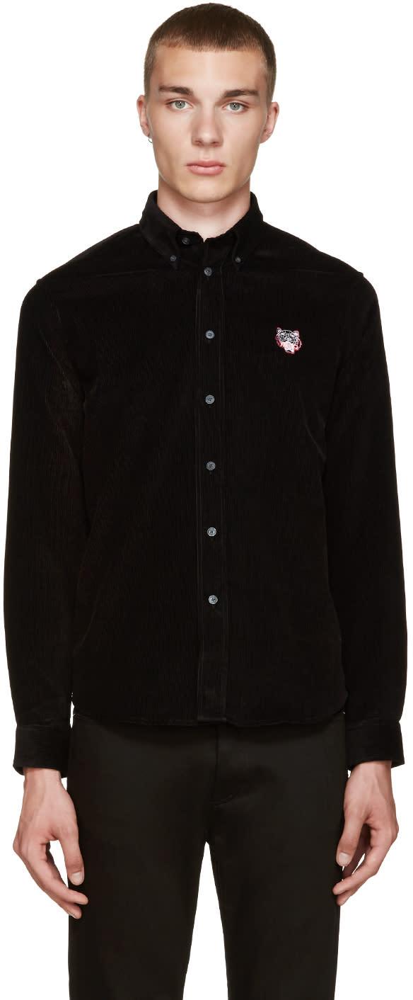 Kenzo Black Corduroy Shirt