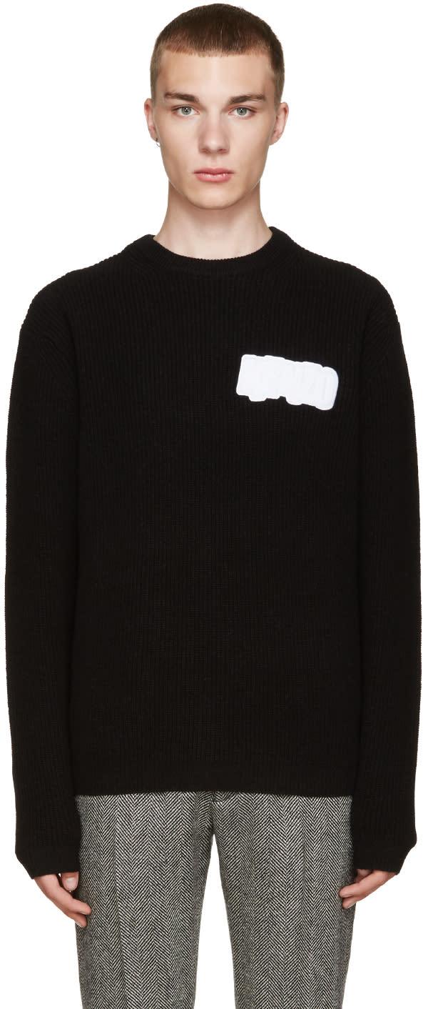 Kenzo Black Wool Logo Sweater