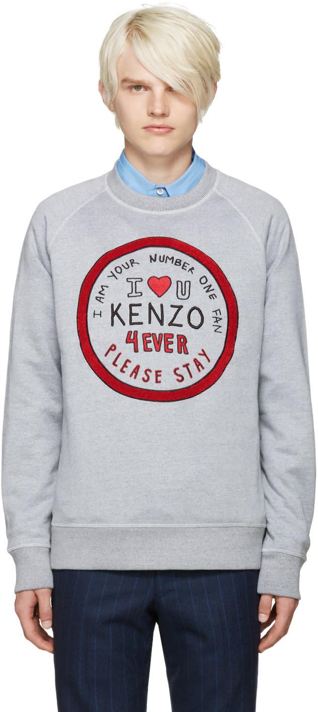 Kenzo Grey 1 Fan Pullover